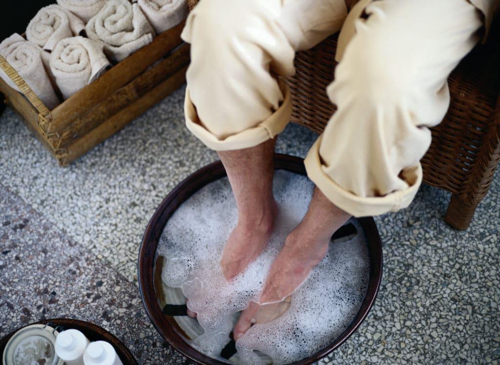 Ванночки от грибка с солью