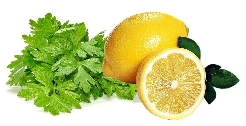 петрушка, мята и лимон