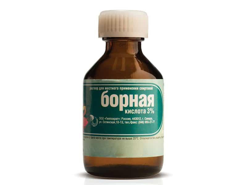 Лечение грибка раствором боной кислоты