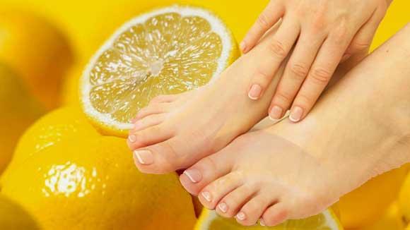 Лимон против грибка на ногах